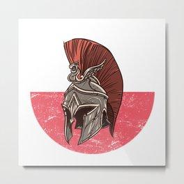 Poland Polnish Spartan  TShirt Warrior Shirt Flag Gift Idea Metal Print
