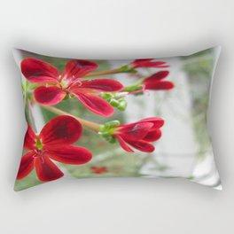 Red Pelargonium Rectangular Pillow