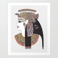 egyptian Art Prints featuring EGYPTIAN GODDESS by Bianca Green