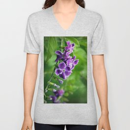 Transformation, Purple Duranta Photography Unisex V-Neck