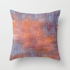 Orange Color Fog Throw Pillow