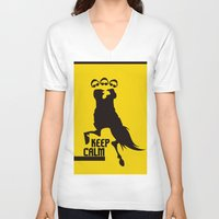 keep calm V-neck T-shirts featuring Keep Calm  by DibelGraphics /www.dibel.cz
