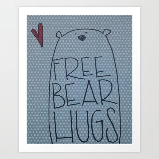 bear hugs Art Print