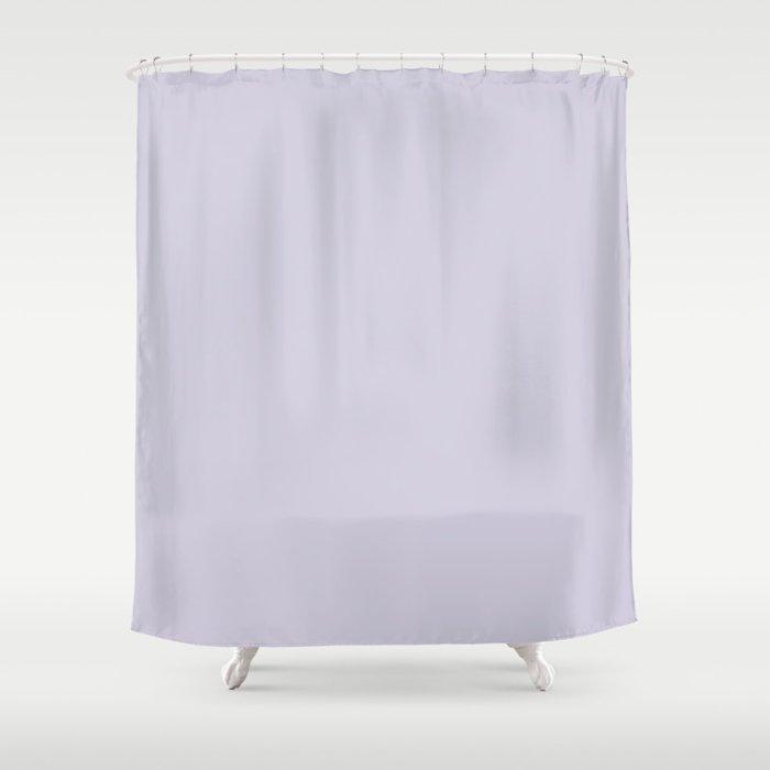 Blue Haze Solid Color Shower Curtain
