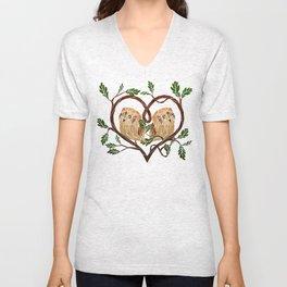 owl love Unisex V-Neck