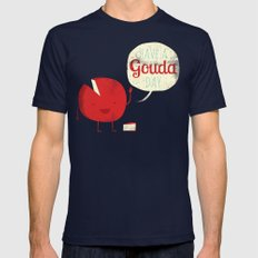 Have a Gouda Day Navy X-LARGE Mens Fitted Tee