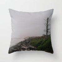 oregon Throw Pillows featuring Oregon Coast: II // Oregon by Corrie Mick