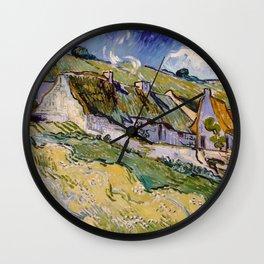 """Vincent van Gogh """"Cottages"""" Wall Clock"""