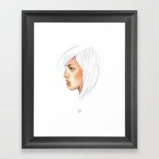 Coloured White Framed Art Print