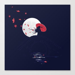 The Night Bridge Canvas Print