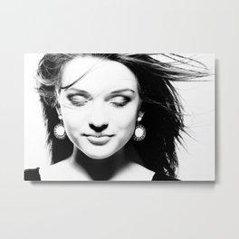 Portrait of a dreamy girl. Metal Print