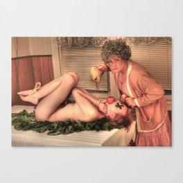 Pig Roast Canvas Print
