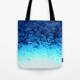 Blue Crystal Ombre Tote Bag