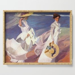 Joaquin Sorolla Walk on the Beach Serving Tray