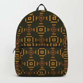 Orange squares abstract pattern Backpack