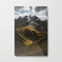 Belle Dolomiti - Light and Shadow Metal Print