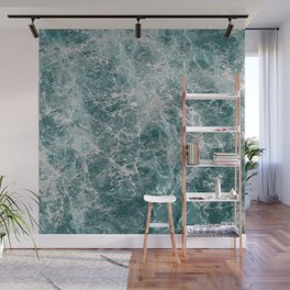 Teal Marble Wall Mural