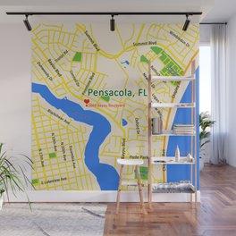 Map of Pensacola, FL Wall Mural