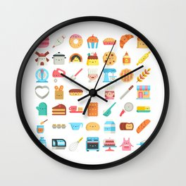 CUTE BAKERY PATTERN (CUTE CHEF BAKER) Wall Clock