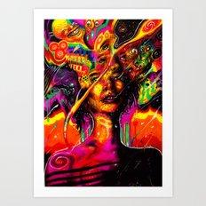 Flabberblasted Art Print