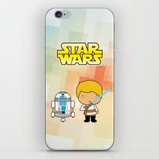 Luke Skywalker and R2D2 iPhone & iPod Skin