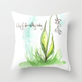 Journal Entry: Lily of the Valley Throw Pillow