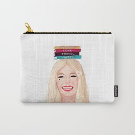 Happy blonde Carry-All Pouch