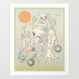 decay, cream & color  Art Print