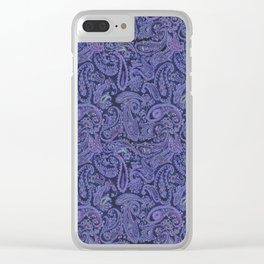 purple paisley Clear iPhone Case