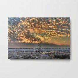 Winkler winter evening sky Metal Print
