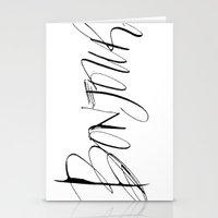 bonjour Stationery Cards featuring Bonjour! by Stephanie Fishwick