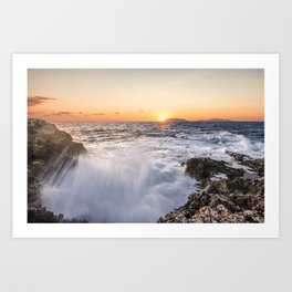 Breathtaking sunset Art Print