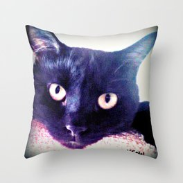Hector Meow. Throw Pillow