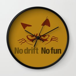 No drift No fun v3 HQvector Wall Clock