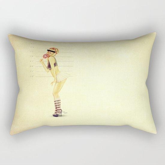 Pin Up Mugshot Rectangular Pillow