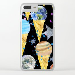 Univers with Planet of the solar system. Clear iPhone Case