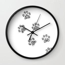 Cat tracks Wall Clock