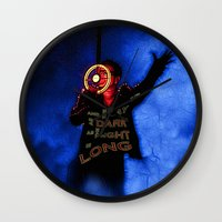 u2 Wall Clocks featuring U2 / Bono / Baby Light My Way by JR van Kampen
