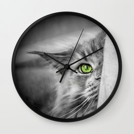Small brother is watching you (b&w) Wall Clock