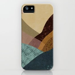 Desert Lakes Abstract iPhone Case