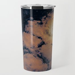 Full moon through purple clouds Travel Mug