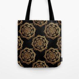 Golden Mandala Pattern Tote Bag