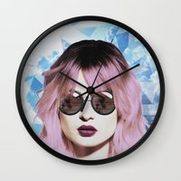 paradise Wall Clocks featuring Paradise by BTP Designs