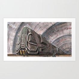 Magneto-protonic propulsion proto-train Art Print
