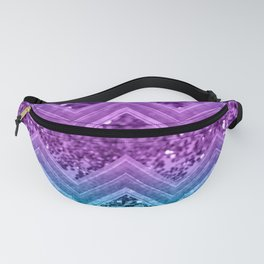 Unicorn Glitter Chevron #3 #shiny #decor #art #society6 Fanny Pack