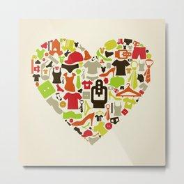 Heart clothes Metal Print