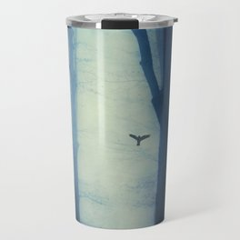 waning lines - trees in fog Travel Mug