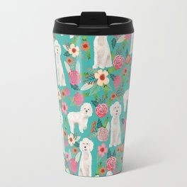 Cockapoo floral dog breed dog pattern pet friendly cocker spaniel poodle Travel Mug