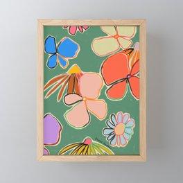 VINTAGE GARDEN GREEN Framed Mini Art Print