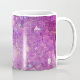 Sparkly Pinky Purple Aura Crystals Coffee Mug